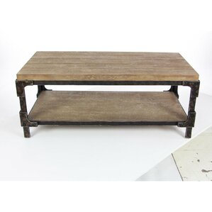 Louis Solid Wood Coffee Table with Magazine Rack by Williston Forge