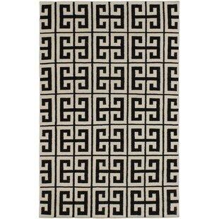 Leblanc Black/Cream Geometric Rug Mercer41