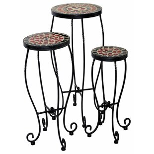 Saad Son 3 Piece Nesting Plant Stand Set by World Menagerie