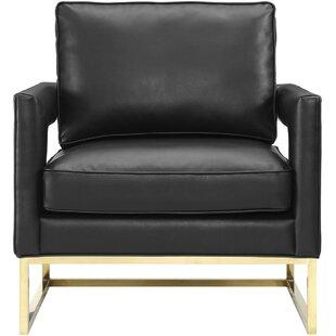 Lyman Leather Armchair by Everly Quinn
