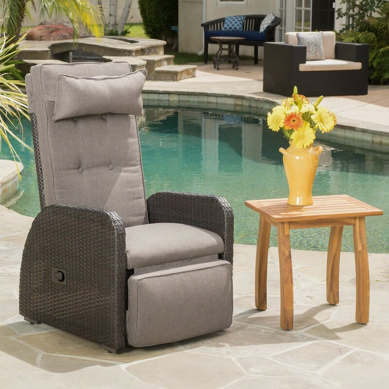 Keenes Recliner Patio Chair With Cushion Save The Look