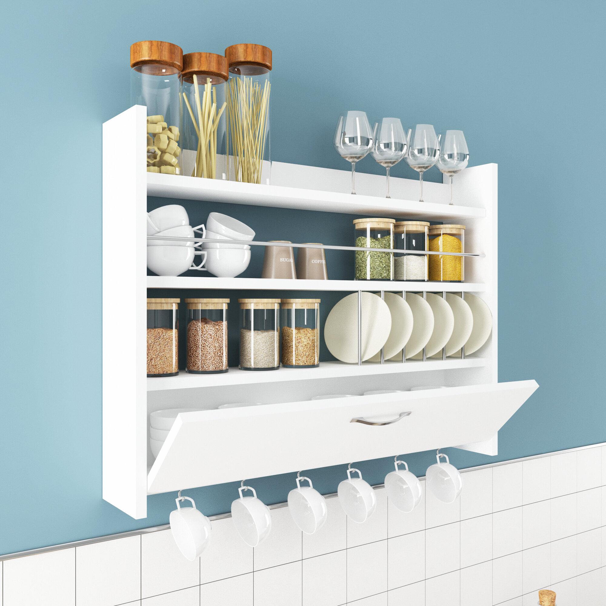 Ebern Designs Sunay Kitchen Wall Shelf Wayfair Ca