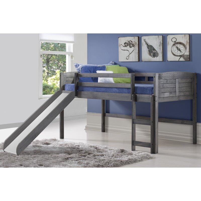 Isabelle Max Hoyt Louver Twin Low Loft Bed Wayfair