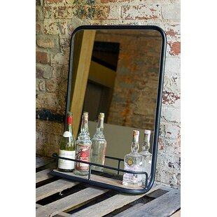 Euan Metal and Glass Bathroom/Vanity Mirror By 17 Stories