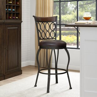 Horowitz Ringed Back 30 Swivel Bar Stool by Winston Porter