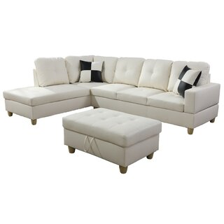 Wellington Living Room Sectional with Ottoman by Ebern Designs SKU:AD642059 Details