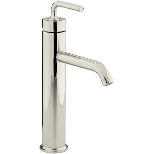 Purist Single hole Bathroom Faucet with Drain Assembly