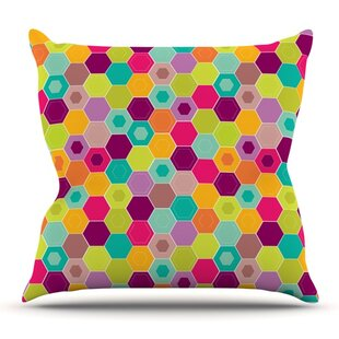 Arabian Bee By Nicole Ketchum Outdoor Throw Pillow by East Urban Home