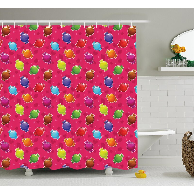 Marina Lllustration Of Candy Shower Curtain