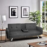 Arleene 71.7 Tufted Back Convertible Sofa by Latitude Run