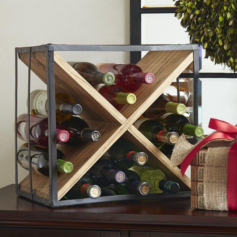 Cross 18 Bottle Tabletop Wine Rack