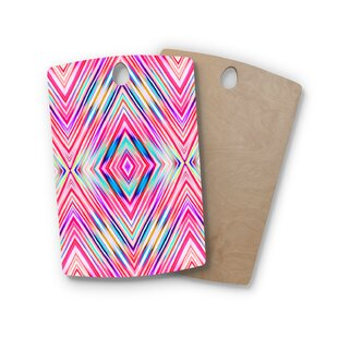 Dawid Roc Birchwood Modern Tribal Ethnic Ikat Cutting Board By East Urban Home