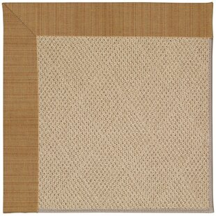 Lisle Machine Tufted Golden Indoor/Outdoor Area Rug