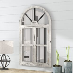 Laurel Foundry Modern Farmhouse Faux Window Wood Wall Mirror
