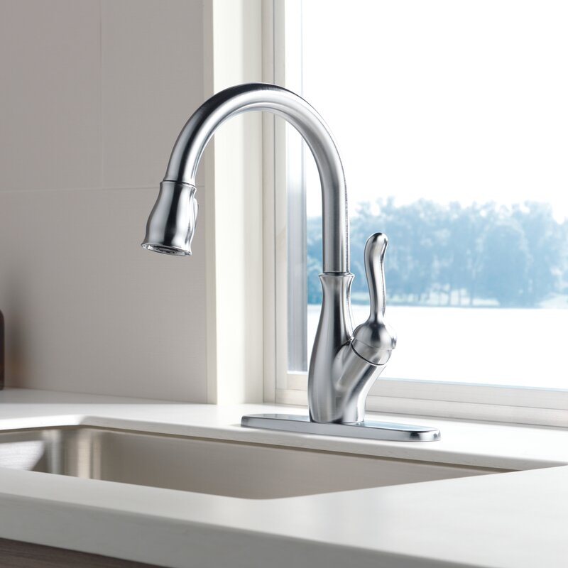9178 Sp Dst Dst Ar Dst Delta Leland Pull Down Single Handle Kitchen Faucet With Magnatite Docking And Diamond Seal Technology Reviews Wayfair