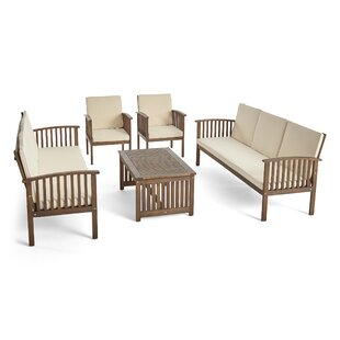 Brice Outdoor 5 Piece Sofa Seating Group with Cushions