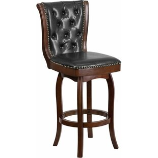 Rouillard 30'' Swivel Bar Stool Astoria Grand