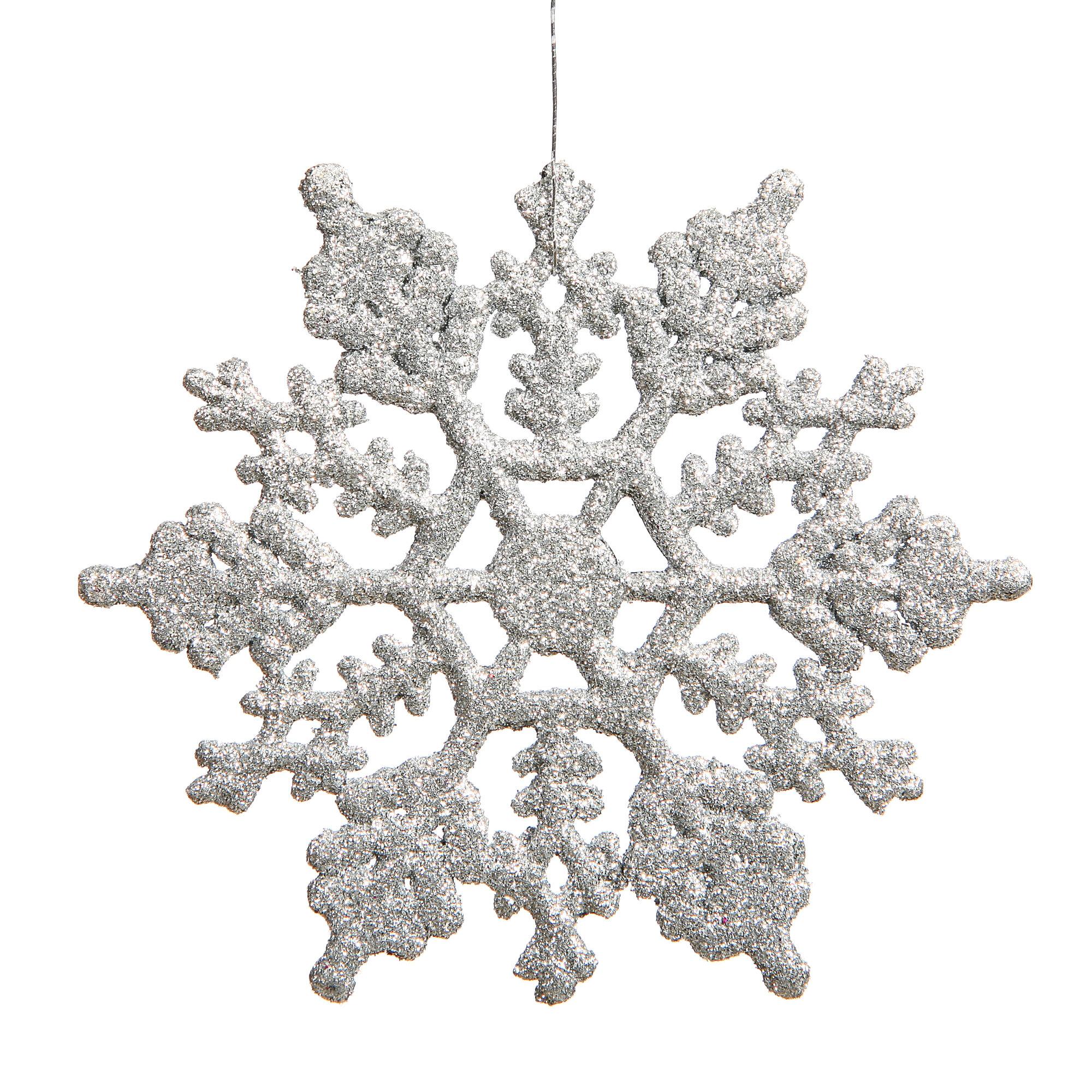 Mercury Row Glitter Snowflake Christmas Shaped Ornament Reviews Wayfair