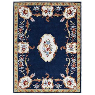 Compare & Buy Knecht Oriental Hand-Tufted Blue White Area Rug By Alcott Hill