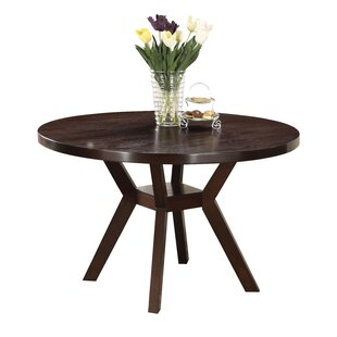Keziah Round Wooden Dining Table Ebern Designs