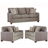 Nedra 3 Piece Living Room Set by Brayden Studio®