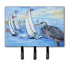 Heron Sailboats Dog River Bridge Leash Holder and Key Hook by Caroline's Treasures