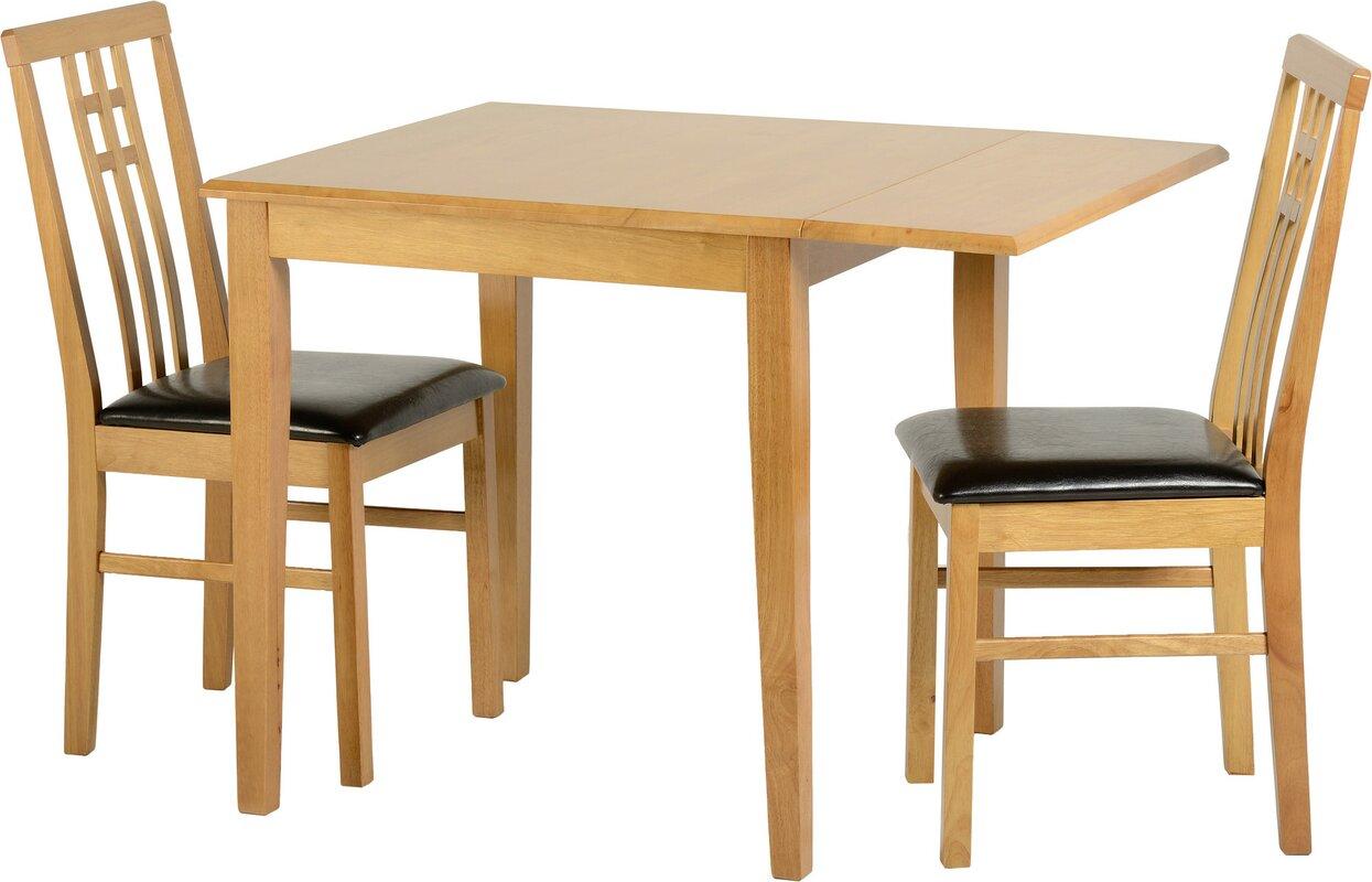 home haus essgruppe kyle mit klappbarem tisch und 2 st hlen bewertungen. Black Bedroom Furniture Sets. Home Design Ideas