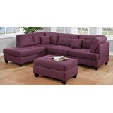 Flor 104 Reversible Sectional with Ottoman by Winston Porter