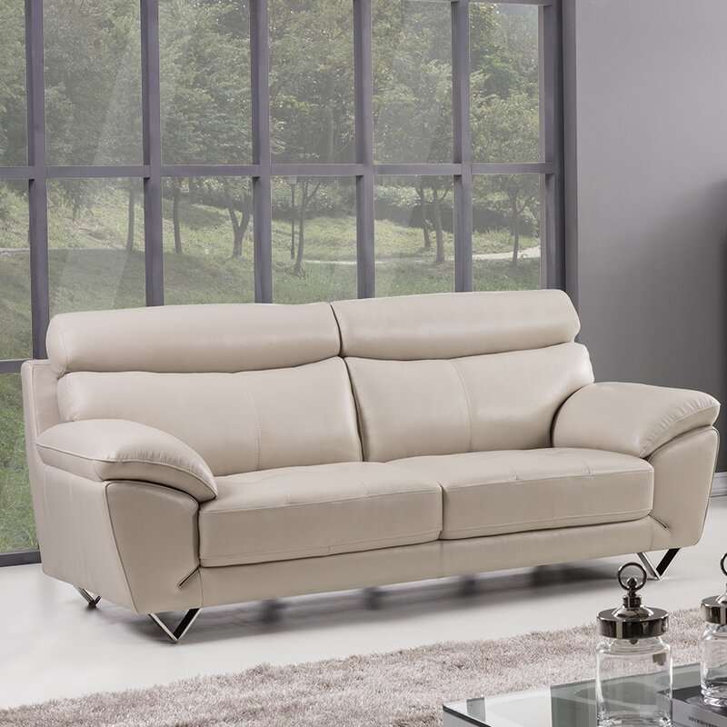 Charmant Valencia Leather Sofa