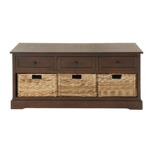 Ottilie 6 Drawer Wood Wicker Storage Bench
