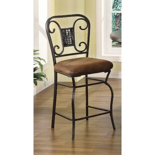Dover 24 Bar Stool (Set of 2) Fleur De Lis Living
