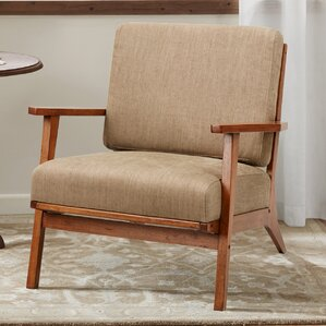 Clear Creek Exposed Wood Armchair by Red Bar..