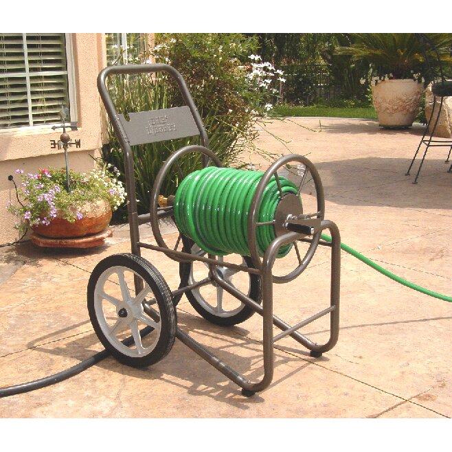 Liberty Garden Two Wheel Metal Hose Reel Cart