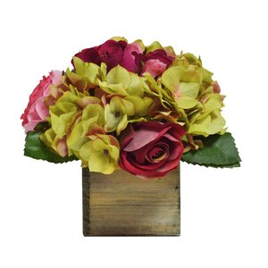 Floral Mix in Natural Wooden Box