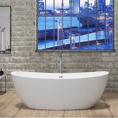 CastelloUSA Manhattan Freestanding Soaking Bathtub