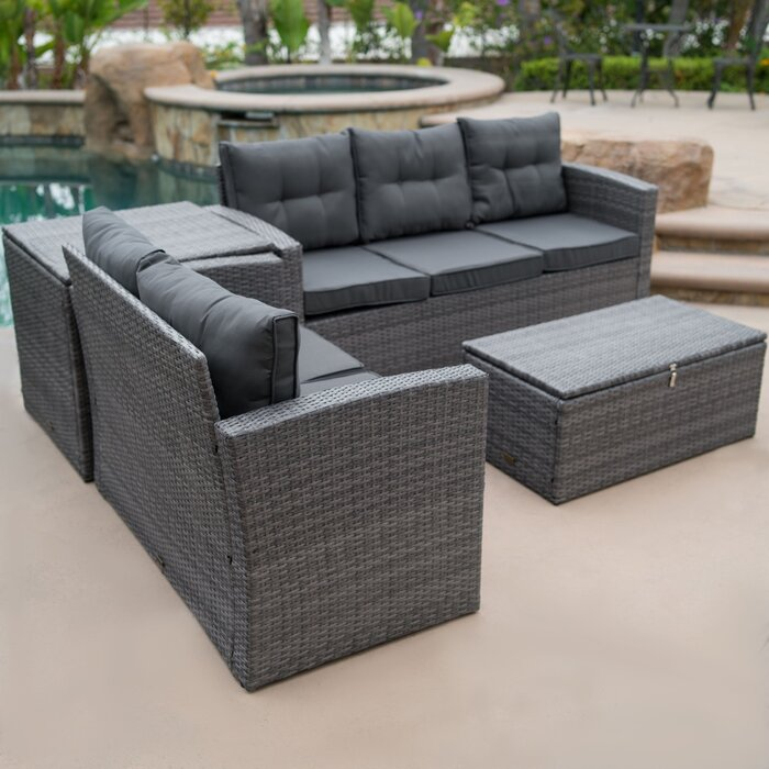 Rowley Patio Sofa Set with Cushions