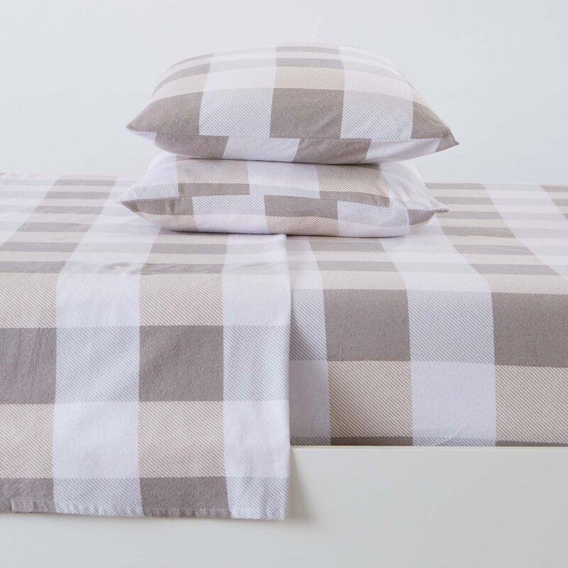 Gracie Oaks Chamberlayne Geometric 100 Cotton Flannel Sheet Set Reviews Wayfair