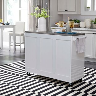 Emblyn Kitchen Island with Stainless Steel Top by Latitude Run