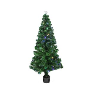 3 color changing fiber optic christmas tree - Pictures Of Christmas Trees To Color