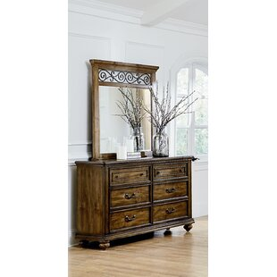 Thach 6 Drawer Double Dresser with Mirror