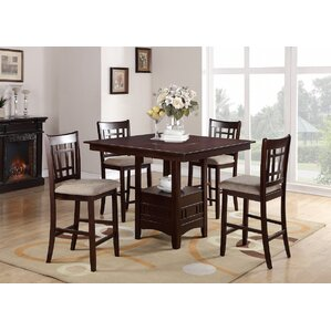 5 Piece Counter Height Dining Set by Infi..