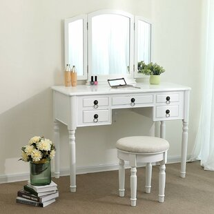 Bolinger Vanity Set with Mirror by Charlton Home