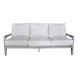 Jessica Teak Patio Sofa with Sunbrella Cushions