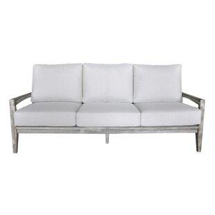 Jessica Teak Patio Sofa with Sunbrella Cushions