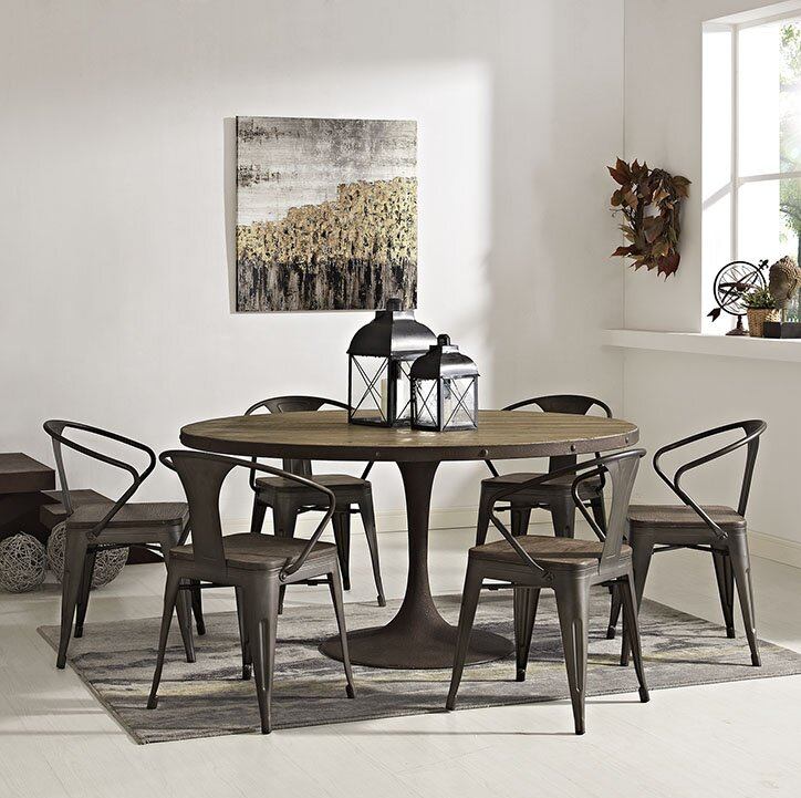 Omarion Metal Base Dining Table