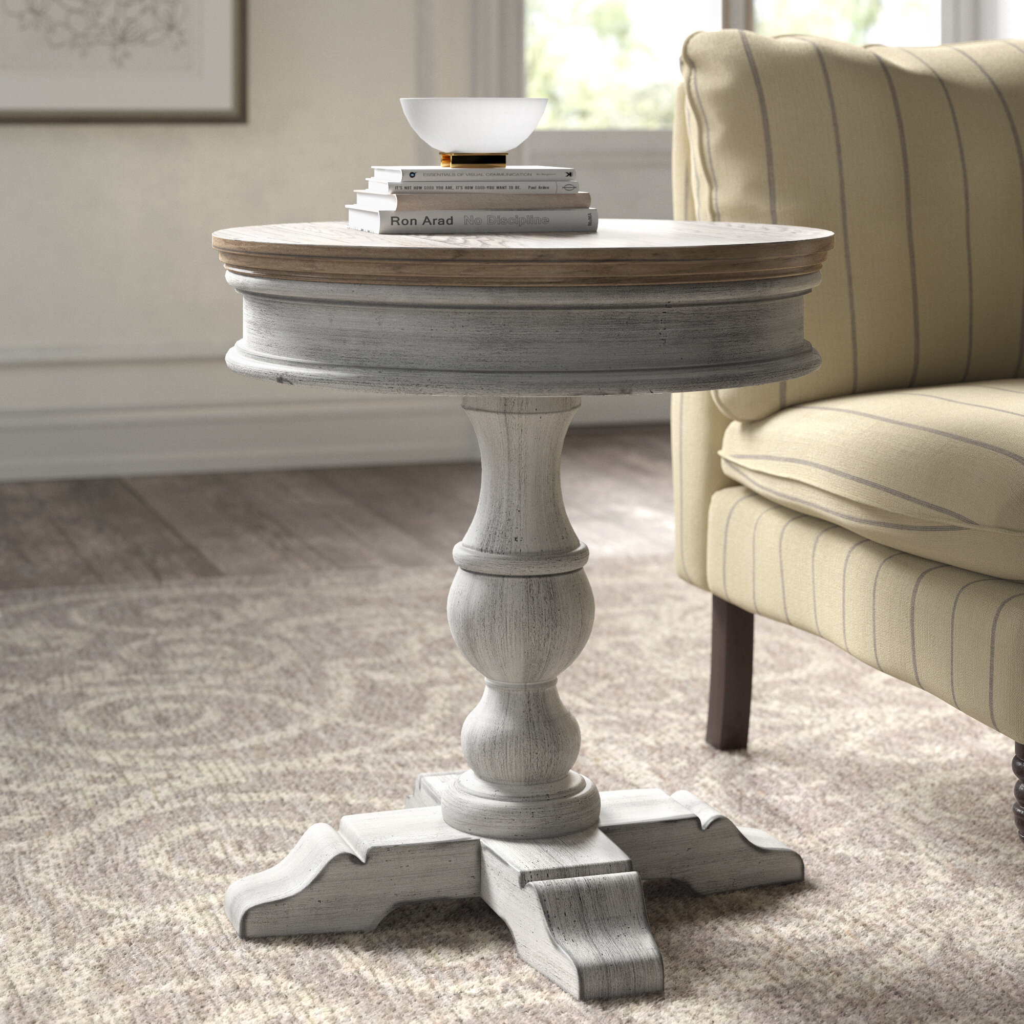 Kelly Clarkson Home Marion Pedestal End Table Reviews Wayfair