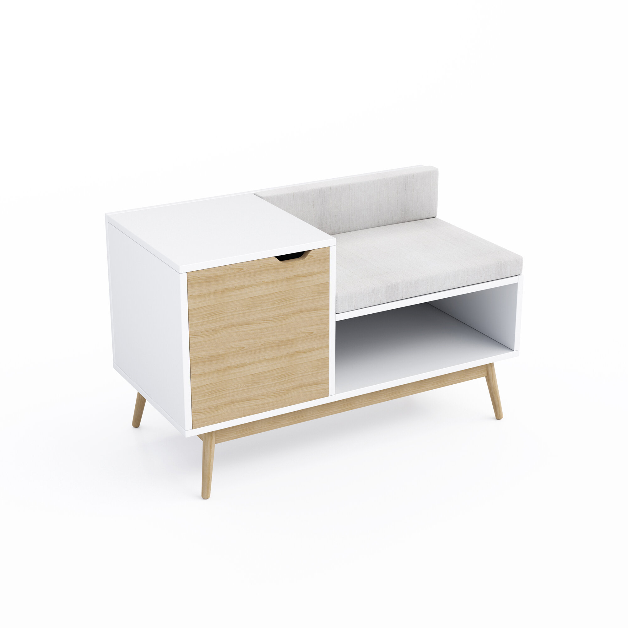 Swell Langley Street Kinsley Sectional Wood Storage Bench Inzonedesignstudio Interior Chair Design Inzonedesignstudiocom