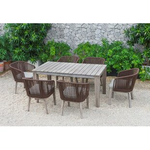 Abancourt Outdoor 7 Piece Dining Set