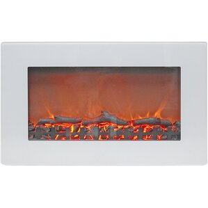 Bevers Wall Mount Electric Fireplace with Re..