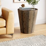 Limones Solid Wood Tray Top Drum End Table by Brayden Studio®